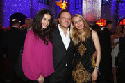 (L-R) Mariella Ahrens, Alexander zu Schaumburg-Lippe and wife Nadja Anna zu Schaumburg-Lippe attend the Festival Night by Bunte and BMW at Humboldt Carre on February 8, 2013 in Berlin, Germany.