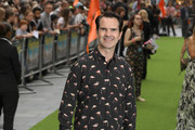 """Jimmy Carr attends """"The Festival"""" world premiere at Cineworld Leicester Square on August 13, 2018 in London, England."""
