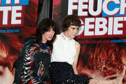 (L-R) Writer Charlotte Roche and actress Carla Juri attend 'Feuchtgebiete' Germany Premiere at Sony Centre on August 13, 2013 in Berlin, Germany.