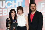(L-R) Writer Charlotte Roche, actress Carla Juri and director David Falko Wnendt attend 'Feuchtgebiete' Germany Premiere at Sony Centre on August 13, 2013 in Berlin, Germany.
