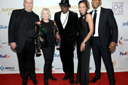 (L-R) Merle Wood, Claire Wood, Wesley Snipes, Shinell Williams, and Lamar Williams attend the Fifth Annual National CARES Mentoring Movement Gala at Cipriani Wall Street on February 10, 2020 in New York City.