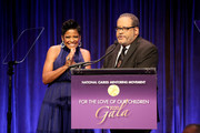 Tamron Hall and Dr. Michael Eric Dyson speak onstage during the Fifth Annual National CARES Mentoring Movement Gala at Cipriani Wall Street on February 10, 2020 in New York City.