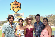 (L-R) Polo player Nacho Figueras, President of Veuve Clicquot Vanessa Kay, Delfina Blaquier, actor Scott Foley and Marika Dominczyk attend the Fifth-Annual Veuve Clicquot Polo Classic at Will Rogers State Historic Park on October 11, 2014 in Pacific Palisades, California.
