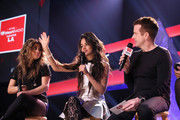 Ally Brooke Hernandez, Camila Cabello of Fifth Harmony, and JoJo Wright speak on the Honda Stage at iHeartRadio Theater on February 5, 2015 in Burbank, California.