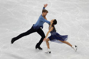 Madison Chock and Evan Bates of the United States competing in the Figure Skating Ice Dance Free Dance on day eleven of the PyeongChang 2018 Winter Olympic Games at Gangneung Ice Arena on February 20, 2018 in Gangneung, South Korea.