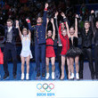 Russia's figure skating team celebrated their big gold medal win.