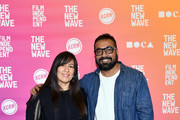 (L-R) Jasmine Jaisinghani and Anurag Kashyap attend Anurag Kashyap In Conversation during Film Independent's The New Wave at Ahmanson Screening Room on October 20, 2019 in Los Angeles, California.