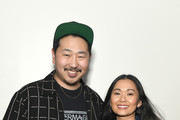 "Andrew Ahn and Hong Chau at the Film Independent Spirit Awards screening series presents ""Driveways"" at ArcLight Culver City on January 13, 2020 in Culver City, California."