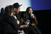 "Jennifer Wilson, Andrew Ahn and Hong Chau at the Film Independent Spirit Awards screening series presents ""Driveways"" at ArcLight Culver City on January 13, 2020 in Culver City, California."
