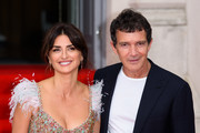 "Penelope Cruz and Antonio Banderas attend the ""Pain And Glory"" UK Premiere and opening gala of Film4 Summer Screen  at Somerset House on August 08, 2019 in London, England."
