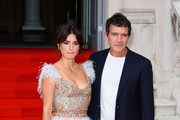 "Penelope Cruz and Antonio Banderas attends the ""Pain And Glory"" UK Premiere and opening gala of Film4 Summer Screen at Somerset House on August 08, 2019 in London, England."