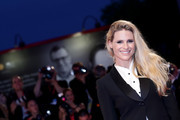 Michelle Hunziker walks the Filming In Italy red carpet during the 76th Venice Film Festival at Sala Grande on September 01, 2019 in Venice, Italy.