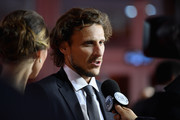 Draw assistant, Diego Forlan is being interviewed on the red carpet prior to the Final Draw for the 2018 FIFA World Cup Russia at the State Kremlin Palace on December 1, 2017 in Moscow, Russia.