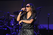 MC Lyte performs on stage during Finding Ashley Stewart 2018 at Kings Theatre on September 15, 2018 in Brooklyn, New York.