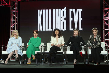 Fiona Shaw Jodie Comer 2019 AMC TCA Panels And Green Room