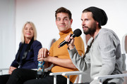 (L-R) Candace Bushnell, Matt Rogers & Justin McLeod attend Fire TV Presents: Love on Screen Panel & Screening Event at Museum of Modern Love on October 11, 2019 in New York City.