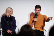 (L-R) Candace Bushnell and Matt Rogers attend Fire TV Presents: Love on Screen Panel & Screening Event at Museum of Modern Love on October 11, 2019 in New York City.