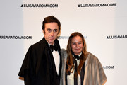 Daniele Cavalli and Eva Cavalli walk the red carpet of Firenze4ever 14th Edition Party hosted by LuisaViaRoma during Pitti Uomo 91 on January 9, 2017 in Florence, Italy.