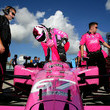 Sarah Fisher Firestone Indy 300 Practice and Qualifying