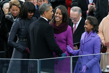 First Lady Barack Obama Sworn In As U.S. President For A Second Term