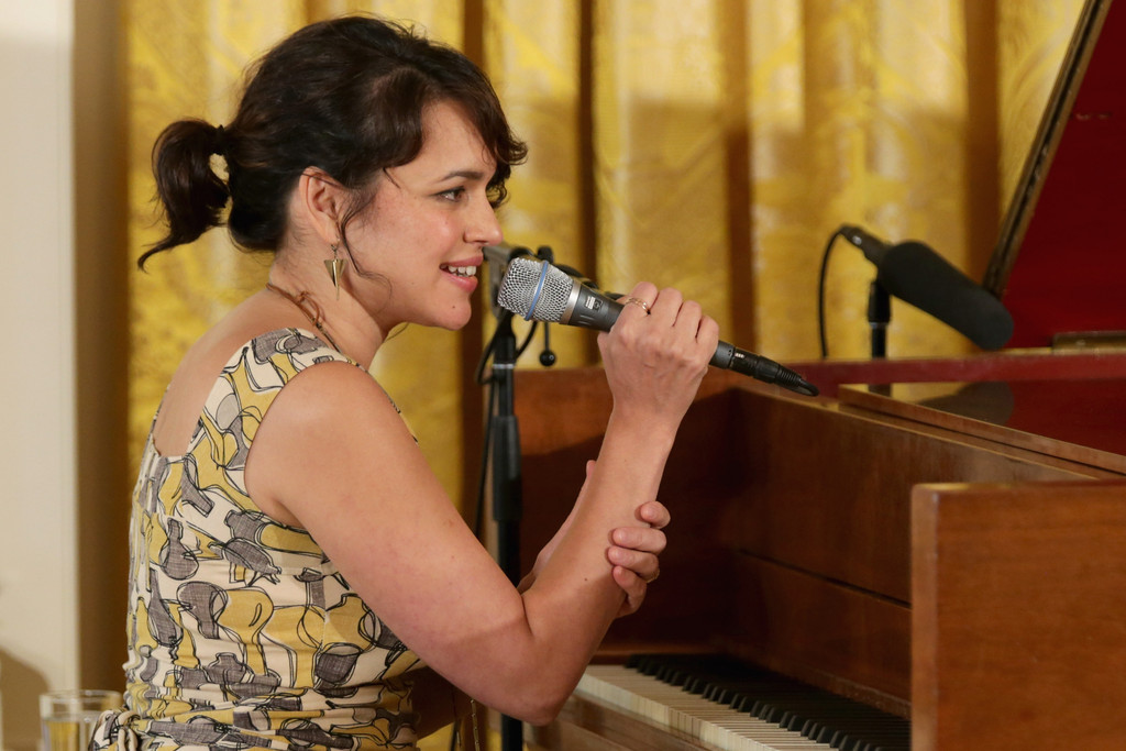 Norah Jones in Michelle Obama Hosts a Mother's Day Tea ...
