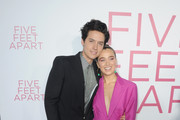 Cole Sprouse and Haley Lu Richardson attend the Five Feet Apart Los Angeles premiere on March 07, 2019 in Los Angeles, California.