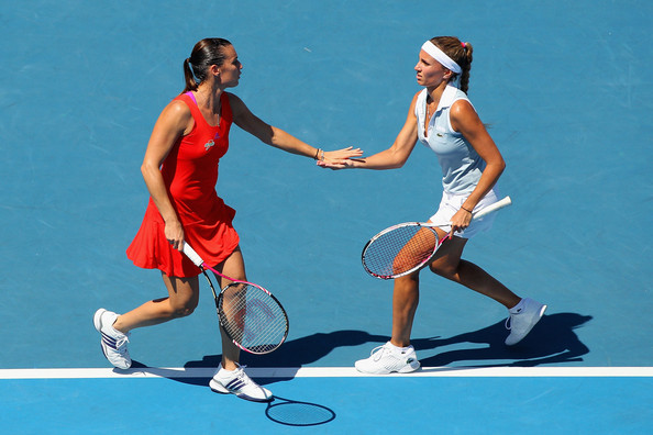 Gisela Dulko and Flavia Pennetta - 2012 Australian Open - Day 7