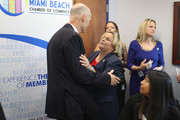 Florida Governor Rick Scott speaks with Rep.  Ileana Ros-Lehtinen (R-FL) as they attend a round table discussion about Zika preparedness in the Miami Beach neighborhood where the mosquito born Zika virus has been found on August 26, 2016 in Miami Beach, Florida.  The Miami Beach area along with Miami's Wynwood neighborhood have been found to have cases of people with the mosquito born Zika virus as South Florida continues to work on controlling the outbreak.