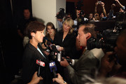 Florida Gubernatorial candidate Democrat Alex Sink talks to the media after her debate with Republican Rick Scott on October 25, 2010 at the University of South Florida in Tampa, Florida. Sink is currently the Chief Financial Officer for the state of Florida. Scott is the former CEO of the healthcare company Columbia/HCA.