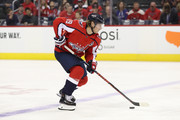 Nicklas Backstrom #19 of the Washington Capitals in action against the Florida Panthers during the first period at Capital One Arena on October 19, 2018 in Washington, DC.