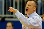 Head coach Billy Donovan of the Florida Gators points during the game against the Florida State Seminoles at Stephen C. O'Connell Center on November 29, 2013 in Gainesville, Florida.