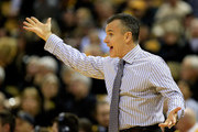 Head coach Billy Donovan of the Florida Gators coaches from the bench during the game against the Missouri Tigers at Mizzou Arena on February 24, 2015 in Columbia, Missouri.