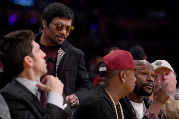 Floyd Mayweather Jr. Golden State Warriors v Los Angeles Lakers