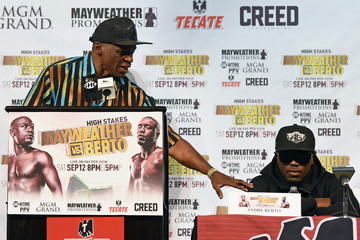 Floyd Mayweather Sr Floyd Mayweather Jr. v Andre Berto - News Conference