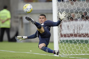 Santos of Atletico-PR reacts after defending a penalty during the match between Fluminense and Atletico-PR as part of Brasileirao Series A 2016 at Maracana Stadium on November 15, 2016 in Rio de Janeiro, Brazil.