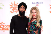 Designer Waris Ahluwalia and model Theodora Richards attend the Food Bank for New York City's Can Do Awards Dinner at Cipriani Wall Street on April 17, 2018 in New York City.
