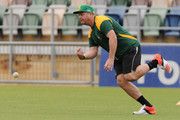 Jesse Ryder of Central Districts warms up before the Ford Trophy one day match between Central Stags and Canterbury at McLean Park on December 27, 2015 in Napier, New Zealand.