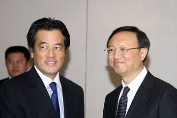 Katsuya Okada Foreign Ministers Of Japan, South Korea And China Hold Meeting