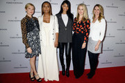 (L-R) Michelle Williams, Janet Mock, Chanel Iman, Sophie Elgort and Dr. Niamey Wilson pose at Forevermark Diamonds Females In Focus Photo Exhibition Event on December 6, 2018 in New York City.