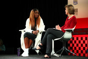 Estelle and Pattie Sellers speak onstage during the Fortune Most Powerful Women Next Gen conference at Monarch Beach Resort on November 13, 2017 in Dana Point, California.