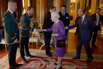 Fourie Du Preez The Queen Hosts Reception to Mark the Rugby World Cup 2015