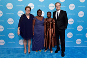 (L-R) Caryl M. Stern, CEO & President of UNICEF USA, Clara Chindime, girls education officer of  UNICEF Malawi, presenter Joyce Chisale and Lawrence O'Donnell, recipient of the 2018 UNICEF ChildrenÕs Champion Award, attend the Fourteenth Annual UNICEF Gala Boston 2018 on May 23, 2018 in Boston, Massachusetts.
