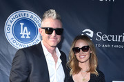 Chase Utley and Jennifer Utley attend the Fourth Annual Los Angeles Dodgers Foundation Blue Diamond Gala at Dodger Stadium on June 11, 2018 in Los Angeles, California.