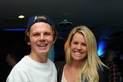 Snowboarder Jamie Nicholls and Chemmy Alcott at the London premiere of 'The Fourth Phase' by Red Bull Media House at BFI Southbank on September 20, 2016 in London, England.
