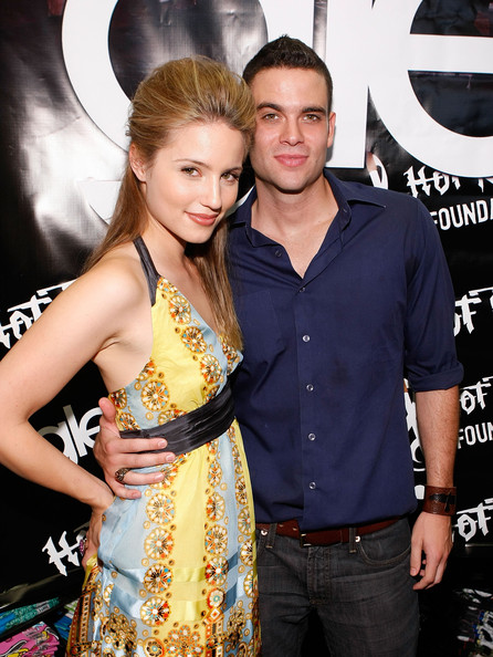 Mark Salling Actress Dianna Agron (L) and actor Mark Salling attend the Glee