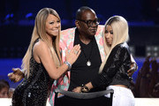 (L-R) American Idol judges Mariah Carey, Randy Jackson and Nicki Minaj are seen onstage during Fox's 'American Idol'Finale Results Show at Nokia Theatre L.A. Live on May 16, 2013 in Los Angeles, California.