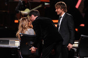 (L-R) American Idol Judges Jennifer Lopez, Harry Connick Jr., and Keith Urban onstage during Fox's 'American Idol' XIII Finale at Nokia Theatre L.A. Live on May 21, 2014 in Los Angeles, California.