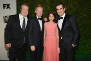 Actors Eric Stonestreet, Jesse Tyler Ferguson, Sarah Hyland, and Ty Burrell attend the Fox And FX's 2014 Golden Globe Awards Party on January 12, 2014 in Beverly Hills, California.