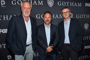 """Executive producers Bruno Heller, Danny Cannon and John Stephens attend Fox's """"Gotham"""" Season Finale Screening at Landmark Theatre on April 28, 2015 in Los Angeles, California."""