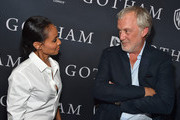 "Actress Jada Pinkett Smith and executive producer Bruno Heller attend Fox's ""Gotham"" Season Finale Screening at Landmark Theatre on April 28, 2015 in Los Angeles, California."